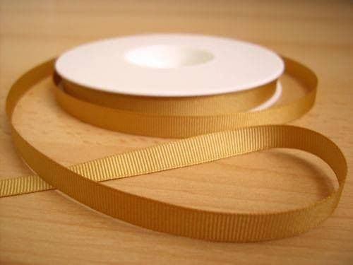 3 YARDS OF SIZE 3/8 GOLD GROSGRAIN RIBBON