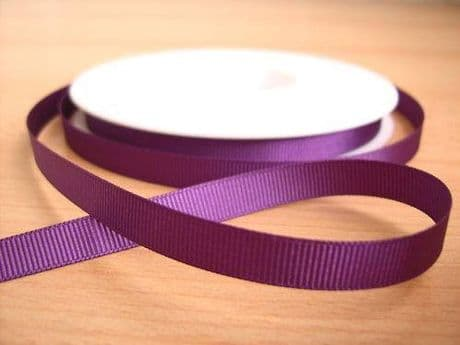 3 YARDS OF SIZE 3/8 PURPLE GROSGRAIN RIBBON