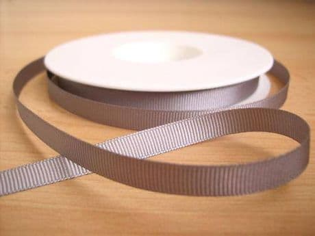 3 YARDS OF SIZE 3/8 SILVER GROSGRAIN RIBBON