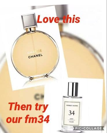 34– PURE PARFUM FOR HER  INSPIRED BY CHANEL CHANCE 50ML