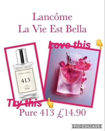 413– PURE PARFUM FOR HER INSPIRED BY LANCOME LA VIE EST BELLE  50ML