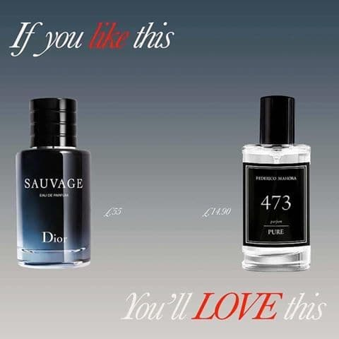 473– PURE PARFUM FOR HIM INSPIRED BY CHRISTIAN DIOR - SAUVAGE  50ML