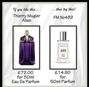489 – PURE PARFUM FOR HER INSPIRED BY THIERRY MUGLER - ALIEN 50ML