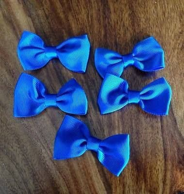 5 X 2.5 INCH ROYAL BLUE BOWS EMBELLISHMENT HEADBANDS SOCKS SHOES HAIR CLIPS