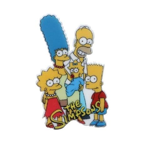 5 x 25MM THE SIMPSONS LASER CUT FLAT BACK RESIN HEADBANDS HAIR BOWS CARD MAKING PLAQUES