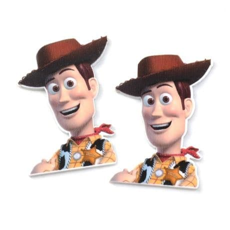 5 X 34MM WOODY FROM TOY STORY LASER CUT FLAT BACK RESIN PLAQUES HEADBANDS BOWS CARD MAKING