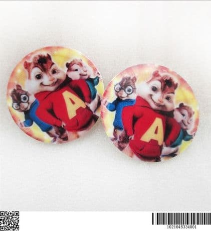 5 x 35MM ALVIN AND THE CHIPMUNKS LASER CUT FLAT BACK RESIN BOWS HEADBAND CARD MAKING LOOK SALE