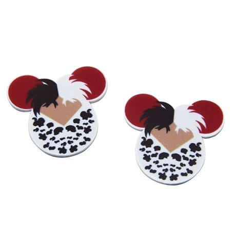5 x 35mm MINNIE MOUSE RED LEOPARD LASER CUT FLAT BACK RESIN HEADBANDS HAIR BOWS