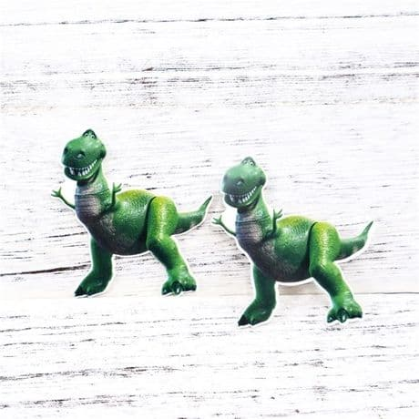 5 x 50MM REX FROM TOY STORY LASER CUT FLAT BACK RESIN HEADBANDS HAIR BOWS