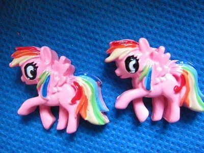 5 x PINK MY LITTLE PONY 31MM FLAT BACK RESIN EMBELLISHMENTS HEADBANDS BOWS CARD MAKING PLAQUES