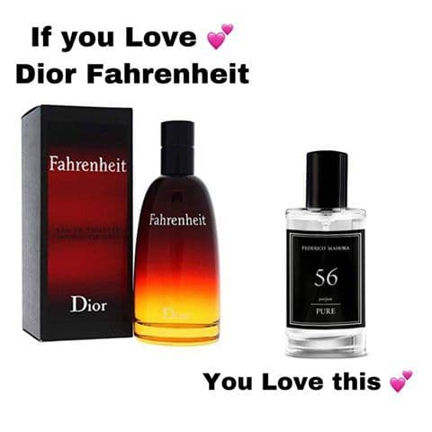 56– PURE PARFUM FOR HIM INSPIRED BY CHRISTIAN DIOR - FAHRENHEIT  50ML