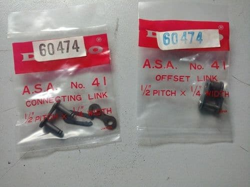 """AYP 60474 Drive Chain Repair link 1/2"""" pitch  x 1/4""""  width"""