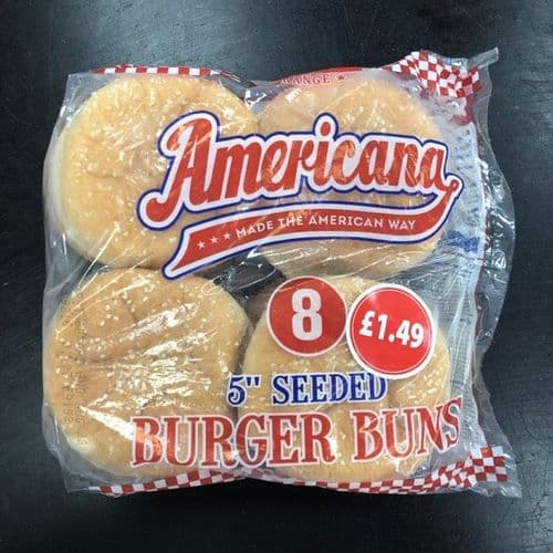 8 Large Seeded Burger Buns