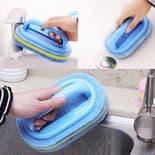 Éponge avec poignée Cuisine Baignoire nettoyage Céramique WC brosse douche