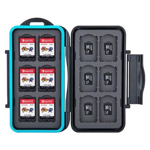 Étui Boîte de Carte Mémoire pour 12 Cartes Nintendo Switch 12 micro SD BK