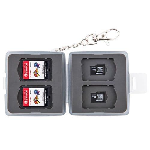 Étui Boîte de Carte Mémoire pour 4 Cartes Nintendo Switch 4 micro SD BK