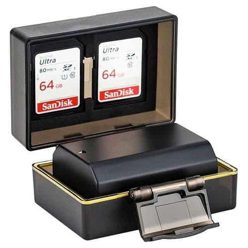 Étui Boîte De Protection Pour Carte Mémoire Et Batterie Pour Sony Np-Fz100