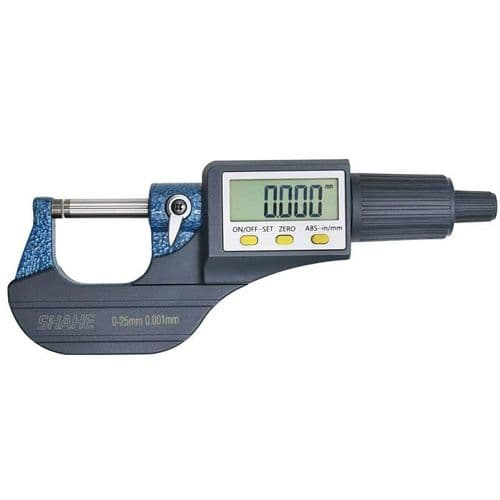 0-25Mm Micrométrique Électronique 0.001Mm Avec Jauge Vernier Large Écran Lcd