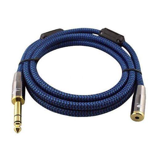 "1/4"" Mâle 6,35mm A mini-jack 3,5mm Femelle 1/8"" Stéréo Câble Audio 3 mètres BU"