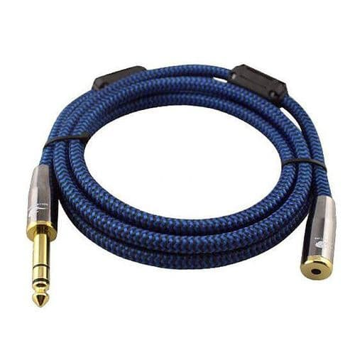 "1/4"" Mâle 6,35mm A mini-jack 3,5mm Femelle 1/8"" Stéréo Câble Audio 8 mètres BU"