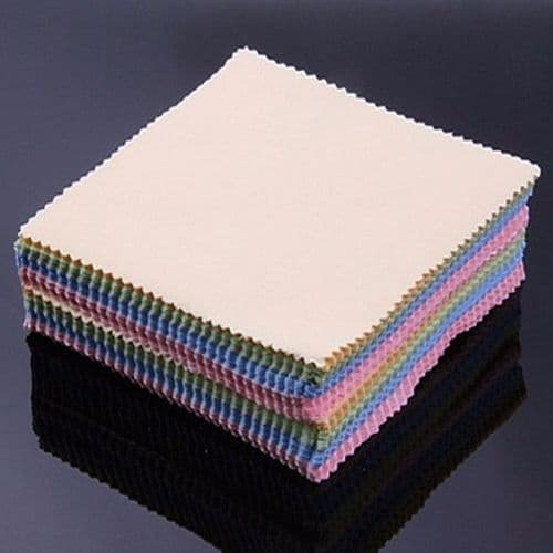 100x Microfibre Tissu Chiffon Nettoyage Lunettes Smartphone Objectif Photo Tablette