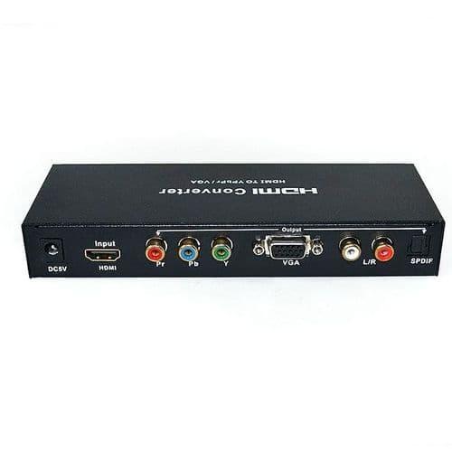 1080p HDMI vers Ypbpr SPDIF RCA Analogique VGA SPDIF Sortie Vidéo Convertisseur Audio