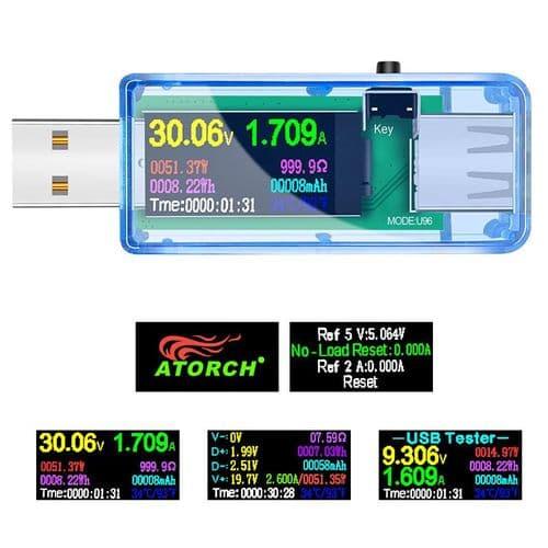 10En1 Testeur Usb Dc Voltmètre Numérique Ampèremètre Tension Testeur De Batterie