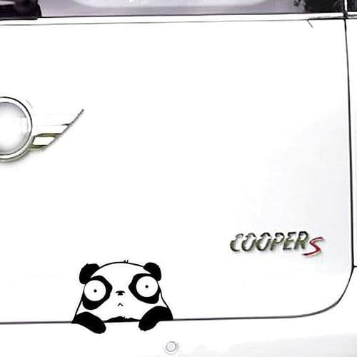 11x8cm Sticker Personnalisation Voiture Auto Film Autocollant Panda Mignon