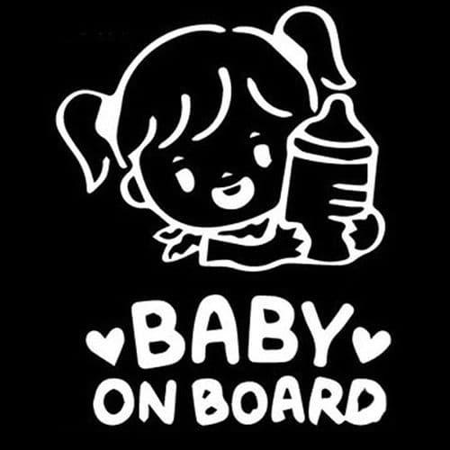 14x10cm Sticker Personnalisation Voiture Auto Film Autocollant Bébé à Bord WH