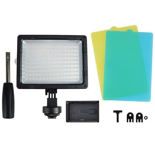 160 LED Lampe Torche Vidéo pour Caméra DV Caméscope Appareil Photo Canon Nikon..