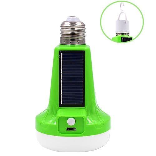 18W 37 LED Lampe Torche Panneau Solaire Batterie Rechargeable Prise USB E27