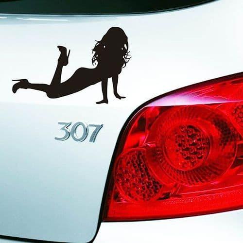 19x12cm Sticker Personnalisation Voiture Auto Film Autocollant Sexy Girl BK