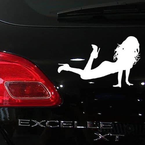 19x12cm Sticker Personnalisation Voiture Auto Film Autocollant Sexy Girl WH