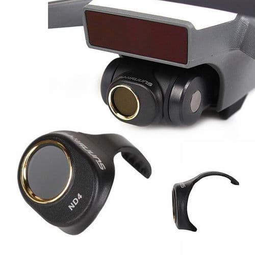1X Filtre Lentille De Densité Neutre Nd4 Pour Dji Spark Drone Camera