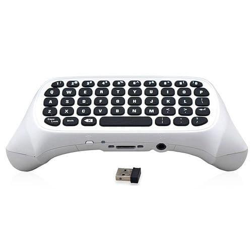 2.4G Mini Clavier Sans Fil pour Microsoft Xbox One S Joy-stick Prise Audio