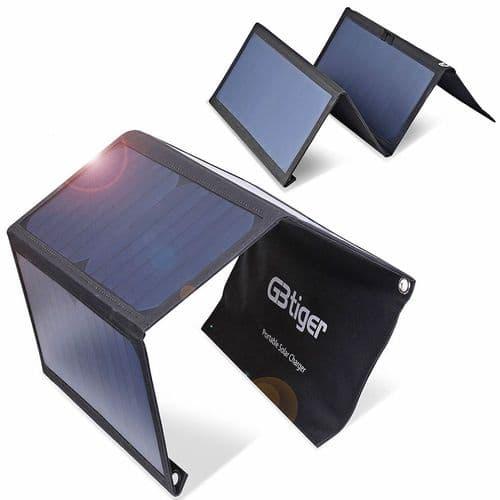 21W Chargeur Batterie Solaire Pliable Panneau Solaire Double Usb 5V 3.2A