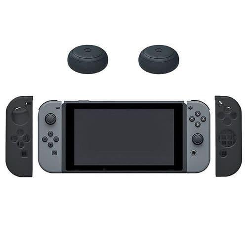 2x Housse en Silicone Nintendo Switch Joystick Manette Thumb Stick Capuchons BK