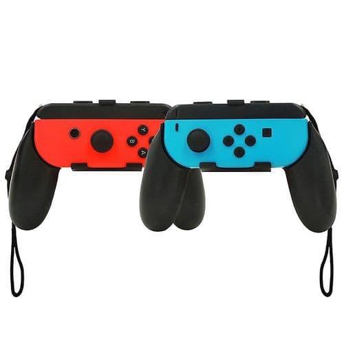 2x Joy-Con Joy-stick Poignée Grip pour Nintendo Switch NS Jeu Console BK