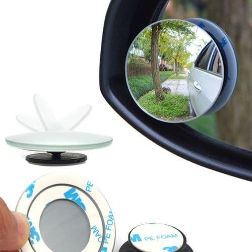 2X Miroir Angle Mort De Voiture Moto Miroir Spot Réglable Verre Convex Sécurité
