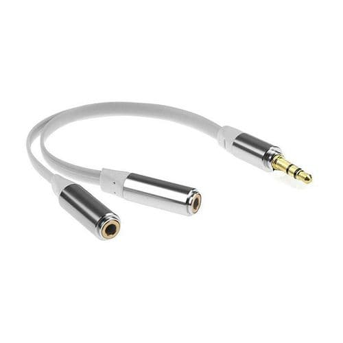3,5mm Mini-Jack Mâle à 2 Femelle Audio Casque Adaptateur Ecouteur 2 Voies SL