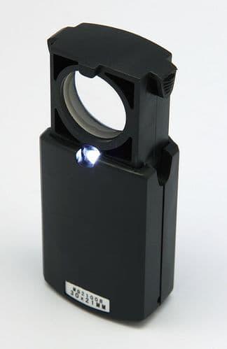 30x21 Loupe Bijoutier avec Lumière LED Slide Out Type