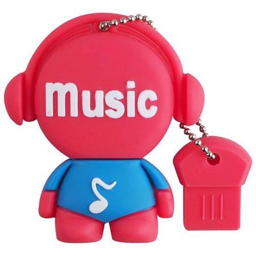 32Go USB 2.0 Clé USB Clef Mémoire Flash Data Stockage Music Rouge