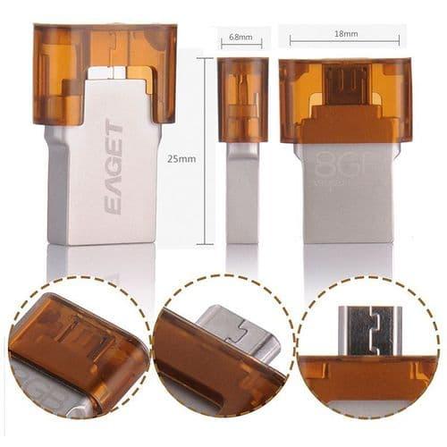 32GO OTG Micro USB USB 2.0 Clé USB Clef Mémoire Flash EAGET V8