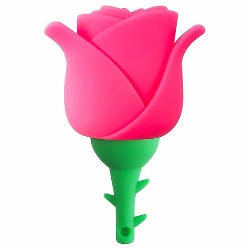 32GO USB 2.0 Clé USB Clef Mémoire Flash Clé USB Rose Fleur Silicone