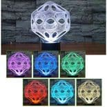 3D Illusion Décoratif Tactile Lampe Lumière LED Décoration Abstract Cube