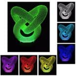3D Illusion Décoratif Tactile Lampe Lumière LED Décoration Loop Coeur