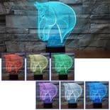 3D Illusion Décoratif Tactile Lampe Lumière LED Décoration Tête de Cheval