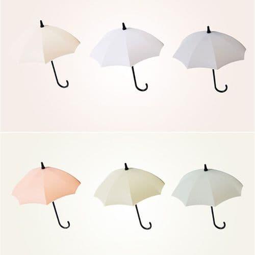 3Pcs Set Forme Parapluie Petit Crochet Adhésif Porte Ustensil Clé Décoratif