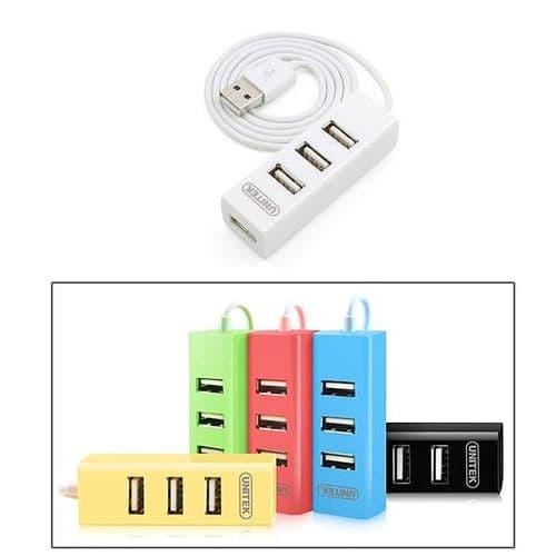 4 Ports USB 2.0 High Speed USB HUB Taille Compact Blanc