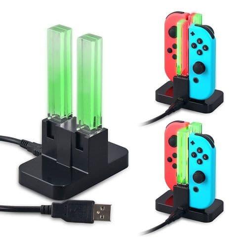 4 en 1 Chargeur Dock Station pour Joy-Con Joy-stick Nintendo Switch NS